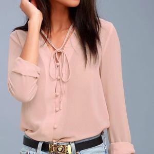 Lulu's Blush Pink Top